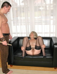 Inexperienced granny Terezka gets fisted by nice stunner and bitchy by horny man