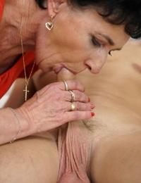 All congenital granny Fairy gives boy toy a blowjob & receives hot fuck & facial